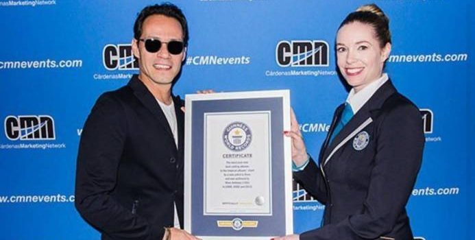 Marc Anthony consigue un record Guinness